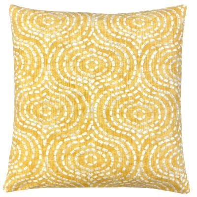 Kissenbezug DENVER goldgelb grau weiß Batikdruck 40x40 50x50 60x60
