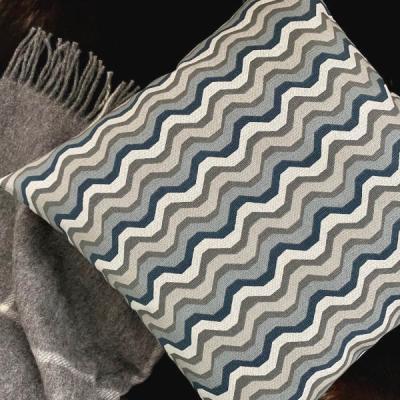 Kissenbezug INFINE beige grau Kissen Landhausstil grafisch 40x40 50x50 60x60