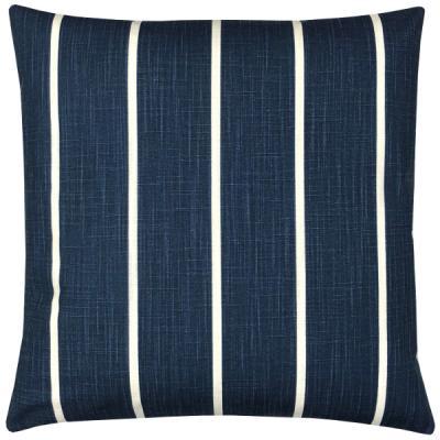Kissenhülle WINDRI blau gestreift Kissen Landhausstil maritim 40x40 50x50 60x60