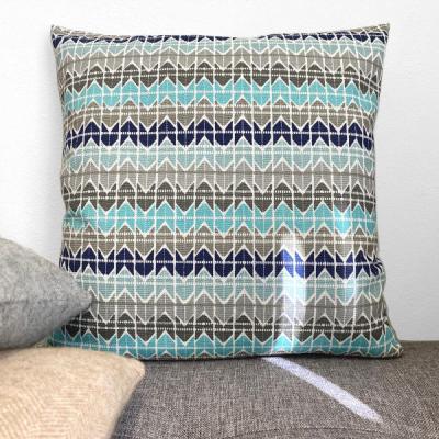 Kissenhülle TESSA dunkelgrau türkis blau Sand Kissen Landhausstil Herbst 40x40 50x50 60x60