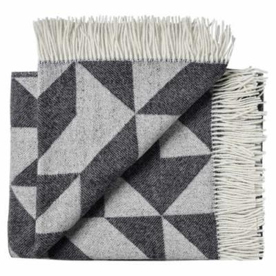 "Wolldecke Plaid Tina Ratzer ""Twist a Twill""  Anthrazit skandinavisch"