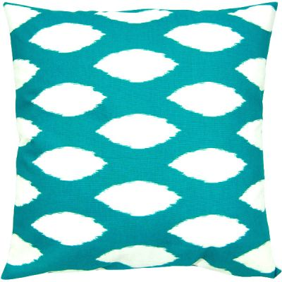dekokissen gotcha t rkis wei geometrisch kettenmuster 50 x 50 cm. Black Bedroom Furniture Sets. Home Design Ideas