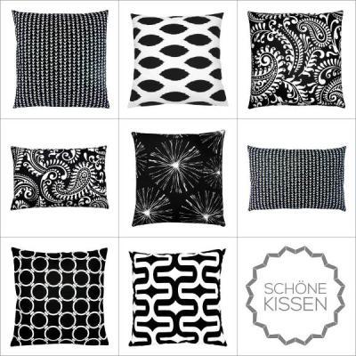 Favorit 1 Kissenbezug Kissen SYDNEY grau weiß grafisch Batikdruck 40 x 40 cm OZ89