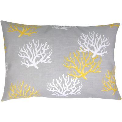 kissenh lle isadella grau gelb korallen leinenoptik 30 x 50 cm. Black Bedroom Furniture Sets. Home Design Ideas