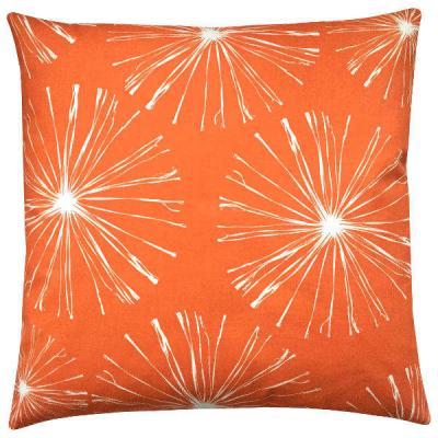 kissenh lle sparks orange wei blumen 50 x 50 cm. Black Bedroom Furniture Sets. Home Design Ideas
