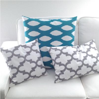 kissenbezug kissen kissenh lle ozborne grau wei barock ornament 40 x 60 cm. Black Bedroom Furniture Sets. Home Design Ideas