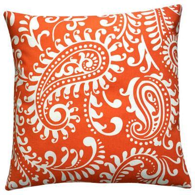 Kissen Orientalisch.Kissenhülle Walker Orange Orientalisch Kissen Paisley Landhausstil 60 X 60 Cm