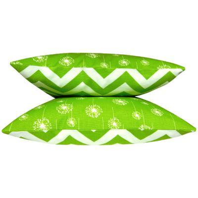1 kissen kissenh lle kissenbezug gotcha gr n wei grafisch 50 x 50 cm. Black Bedroom Furniture Sets. Home Design Ideas