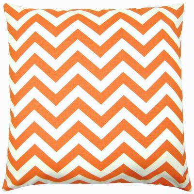 Kissenbezug CHEVRON orange natur gestreift 50 x 50 cm