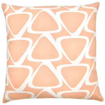 Kissenhülle aprikot JACE pastell orange Retro Kissen grafisch Landhausstil 40 x 40 cm