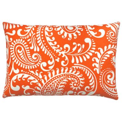 Kissenbezug WALKER orange weiß Paisley 40 x 60 cm