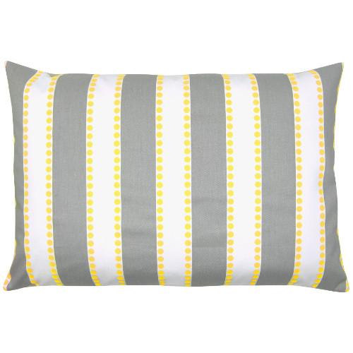 kissen kissenbezug lulu grau wei gelb streifen gestreift skandinavisch maritim 40 x 60 cm. Black Bedroom Furniture Sets. Home Design Ideas