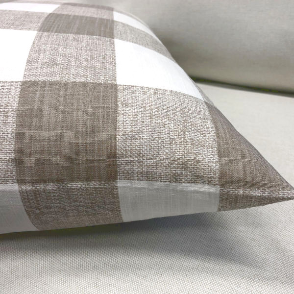 kissenh lle beige anderson sand wei karo kariert kissen. Black Bedroom Furniture Sets. Home Design Ideas