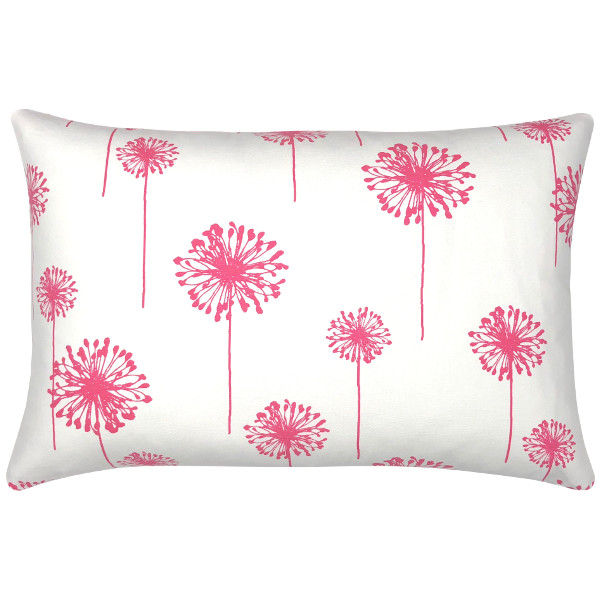 kissen kissenbezug dandelion pink wei blumen pusteblume 40 x 60 cm. Black Bedroom Furniture Sets. Home Design Ideas