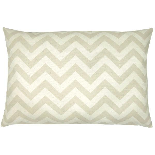 kissenbezug chevron natur beige streifen zickzack 40 x 60 cm. Black Bedroom Furniture Sets. Home Design Ideas
