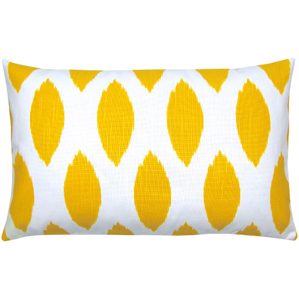 kissenh lle chipper gelb wei ikat leinenoptik quergemustert 30 x 50 cm. Black Bedroom Furniture Sets. Home Design Ideas