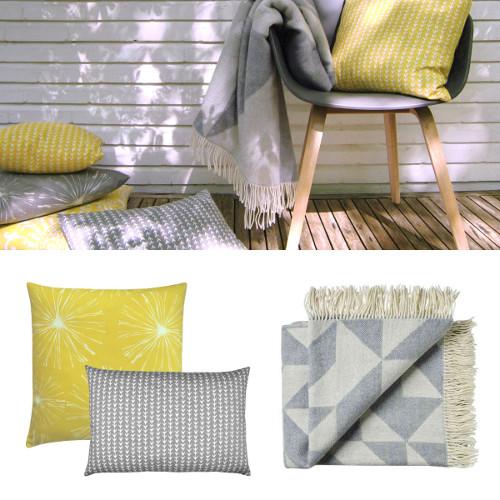 kissen kissenh lle walker zitronengelb gelb wei paisley 50 x 50 cm. Black Bedroom Furniture Sets. Home Design Ideas