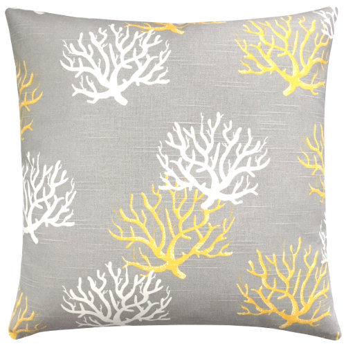 kissenh lle isadella grau gelb korallen leinenoptik 50 x 50. Black Bedroom Furniture Sets. Home Design Ideas