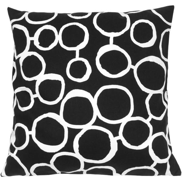 kissenh lle freehand schwarz wei kreise geometrisch 30 x 30 cm. Black Bedroom Furniture Sets. Home Design Ideas