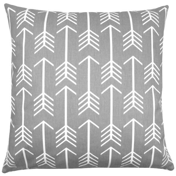 kissenbezug arrow grau wei pfeile 60 x 60 cm. Black Bedroom Furniture Sets. Home Design Ideas
