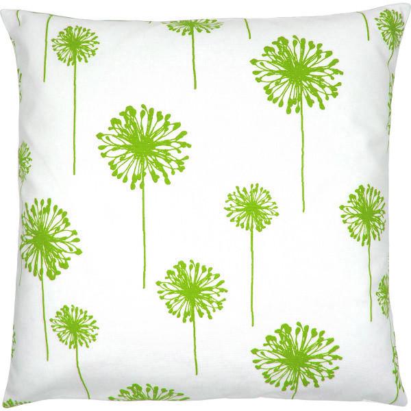 Dekokissen Mit Löwenzahnblumen In Weiß Grün 40 X 40 Cm