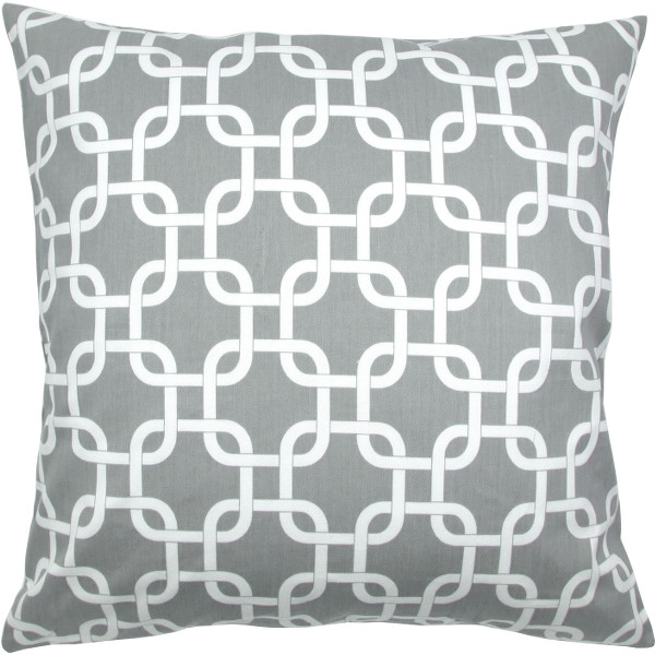 1 kissenh lle gotcha grau wei grafisch kettenmuster 40 x 40 cm. Black Bedroom Furniture Sets. Home Design Ideas