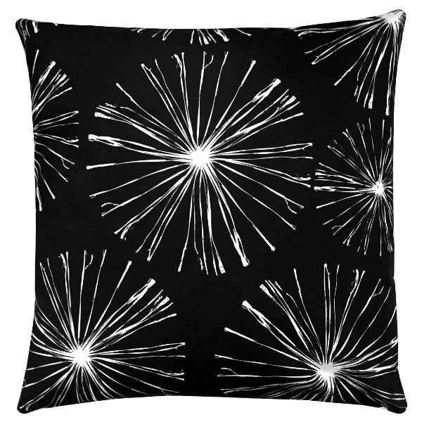 kissenh lle sparks schwarz wei feuerwerks blumen 50 x 50 cm. Black Bedroom Furniture Sets. Home Design Ideas