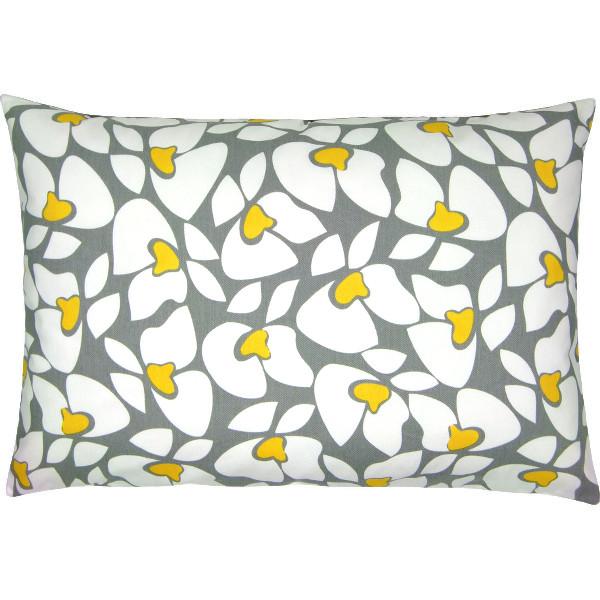 kissenh lle helen gelb wei blumenprint 40 x 60 cm. Black Bedroom Furniture Sets. Home Design Ideas