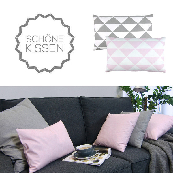 kissenbezug kissenh lle gotcha grau wei geometrisch kettenmuster 50 x 50 cm. Black Bedroom Furniture Sets. Home Design Ideas
