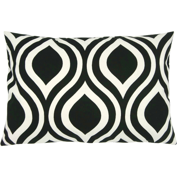 kissenh lle emily schwarz natur retro grafisch 40 x 60 cm. Black Bedroom Furniture Sets. Home Design Ideas