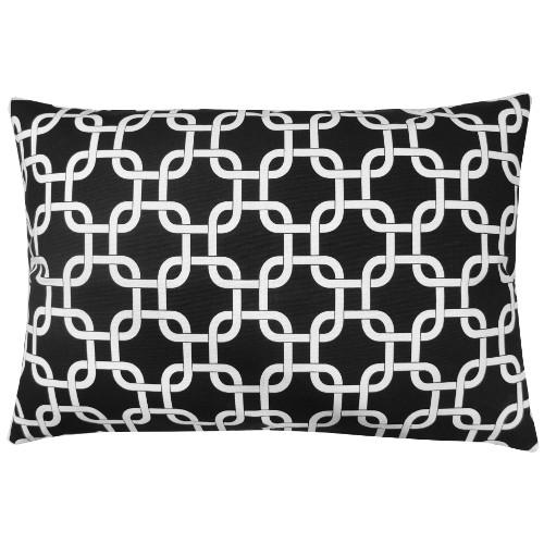 kissenh lle gotcha schwarz wei kettenmuster geometrisch 40 x 60 cm. Black Bedroom Furniture Sets. Home Design Ideas