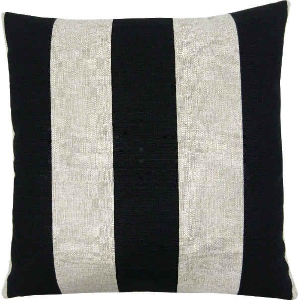 kissenh lle vertical schwarz beige streifen jute 30 x 30 cm. Black Bedroom Furniture Sets. Home Design Ideas