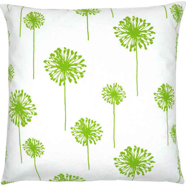 kissenbezug dandelion wei gr n blumen l wenzahn 50 x 50 cm. Black Bedroom Furniture Sets. Home Design Ideas