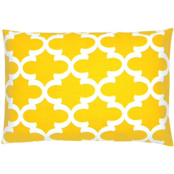 kissenh lle fynn gelb wei gittermuster geometrisch orientalisch leinenoptik 40 x 60 cm. Black Bedroom Furniture Sets. Home Design Ideas