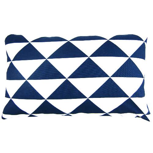 kissenbezug dimensions blau dreiecke geometrisch maritim 30 x 50 cm. Black Bedroom Furniture Sets. Home Design Ideas
