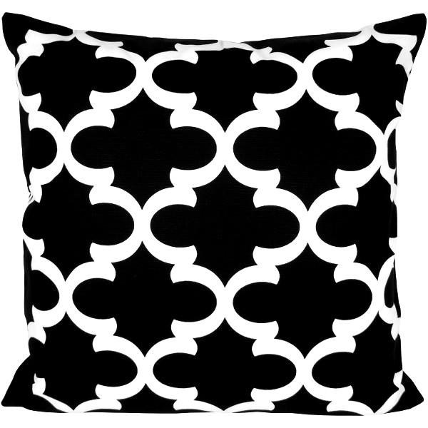 kissenh lle fynn schwarz wei gittermusterorientalisch 40 x 40 cm. Black Bedroom Furniture Sets. Home Design Ideas