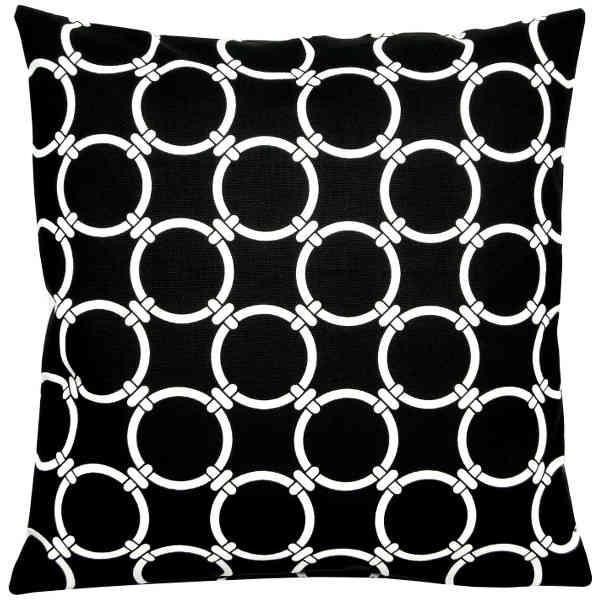kissenh lle linked schwarz wei ringmuster 50 x 50. Black Bedroom Furniture Sets. Home Design Ideas