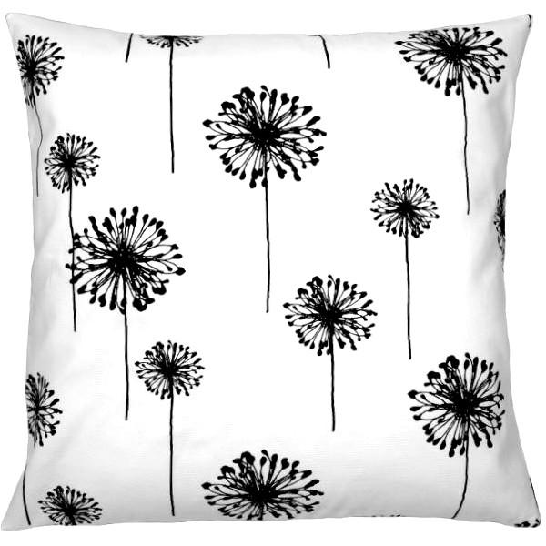 Kissenbezug Dandelion In Weiß Schwarz Mit Pusteblumen Print In 40 X 40 Cm