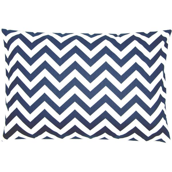 kissenh lle chevron blau wei zickzack gestreift 30 x 50 cm. Black Bedroom Furniture Sets. Home Design Ideas