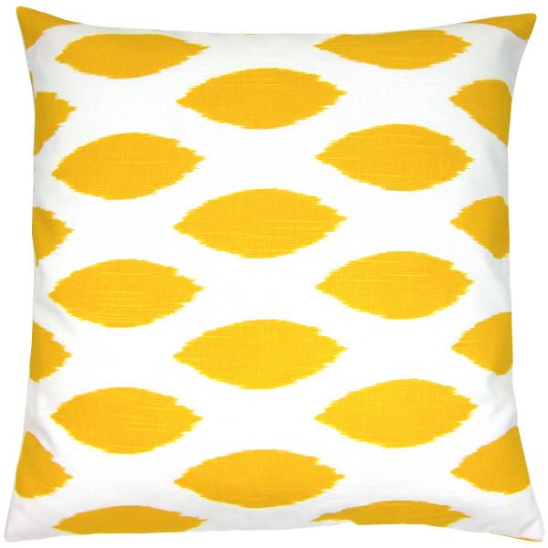 kissenh lle chipper gelb wei leinenstruktur ikat 30 x 30 cm. Black Bedroom Furniture Sets. Home Design Ideas