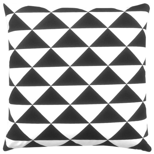 kissenbezug dimensions schwarz wei dreiecke grafisch 60 x 60 cm. Black Bedroom Furniture Sets. Home Design Ideas