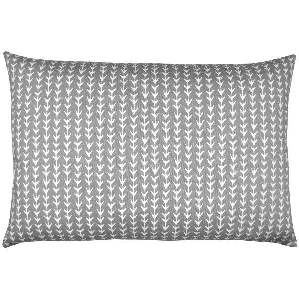 kissen vine grau wei ranken reben grafisch geometrisch 30 x 50 cm. Black Bedroom Furniture Sets. Home Design Ideas