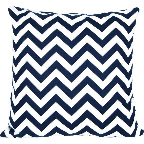 kissenh lle chevron blau marine zickzack streifen 40 x 40 cm. Black Bedroom Furniture Sets. Home Design Ideas