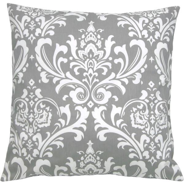 kissenh lle ozborne grau wei ornament barock 50 x 50 cm. Black Bedroom Furniture Sets. Home Design Ideas