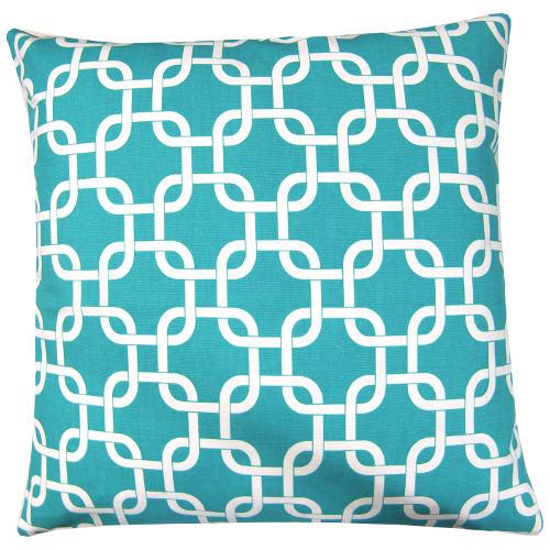 kissen gotcha bodenkissen t rkis wei grafisch kettenmuster 60 x 60 cm. Black Bedroom Furniture Sets. Home Design Ideas