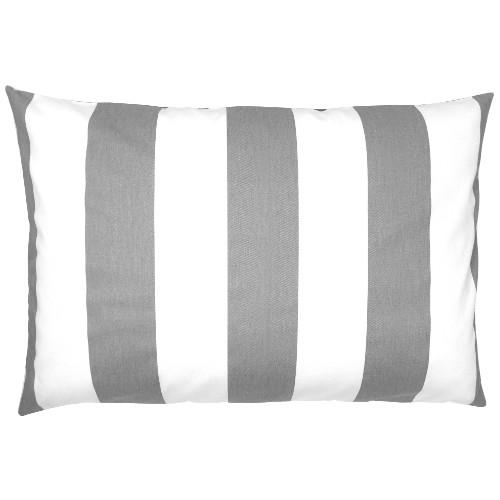 kissenbezug kissen kissenh lle vertical grau wei gestreift skandinavisch 40 x 60 cm. Black Bedroom Furniture Sets. Home Design Ideas
