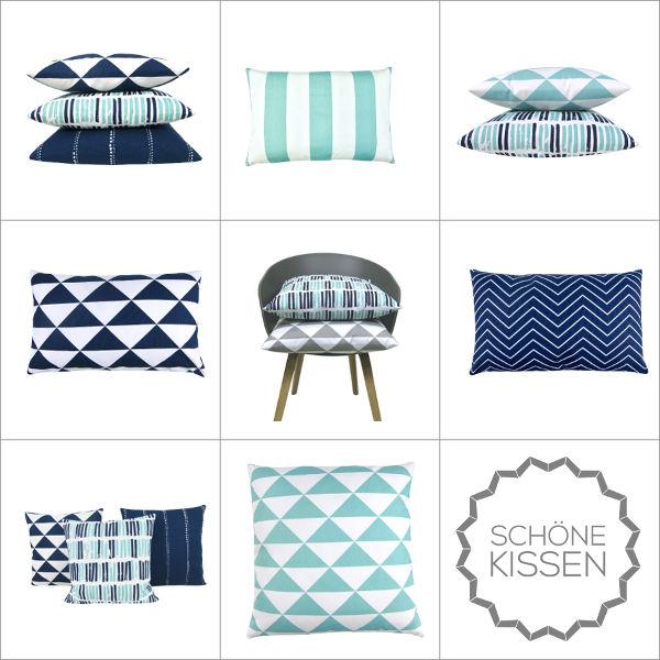 kissen dimensions t rkis pastell skandinavisch dreiecke grafisch 40 x 60 cm. Black Bedroom Furniture Sets. Home Design Ideas