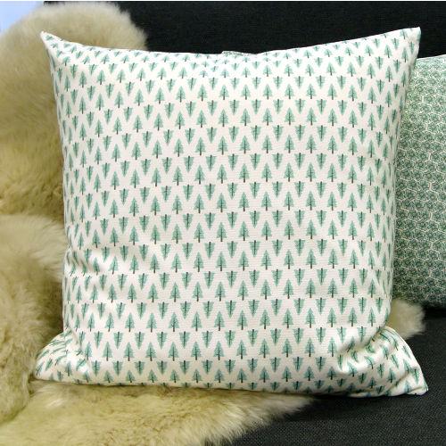 kissenbezug forest natur eisblau tannen landhaus 40 x 40 cm. Black Bedroom Furniture Sets. Home Design Ideas