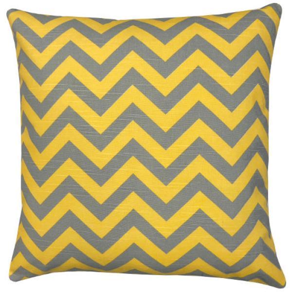 kissenh llechevron gelb grau zickzack leinenoptik 40 x 40. Black Bedroom Furniture Sets. Home Design Ideas