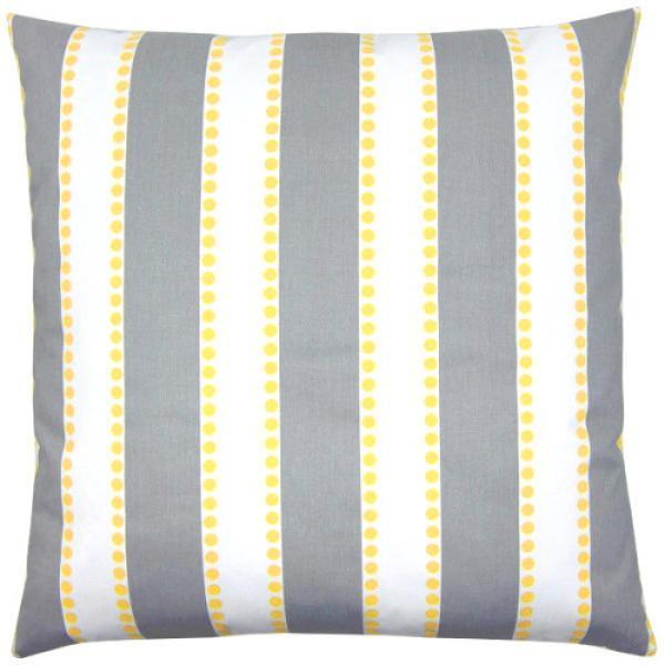 kissenbezug kissen lulu grau wei gelb streifen skandinavisch maritim 40 x 40 cm. Black Bedroom Furniture Sets. Home Design Ideas